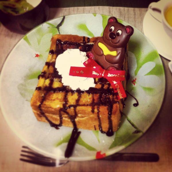 ハニーチョコトースト(∩゚∀゚∩)─♪