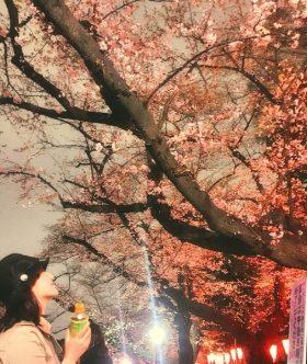 満開の桜の下でお花見! at 上野公園