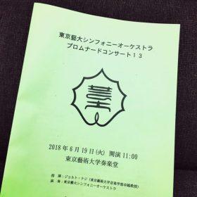 東京藝大シンフォニーオーケストラ プロムナードコンサート13 へ
