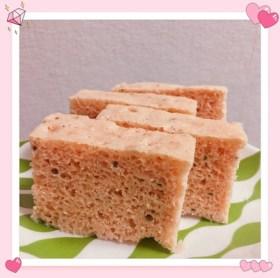 奇跡のおからとDNSプロテイン・ストロベリー風味のケト蒸しパン