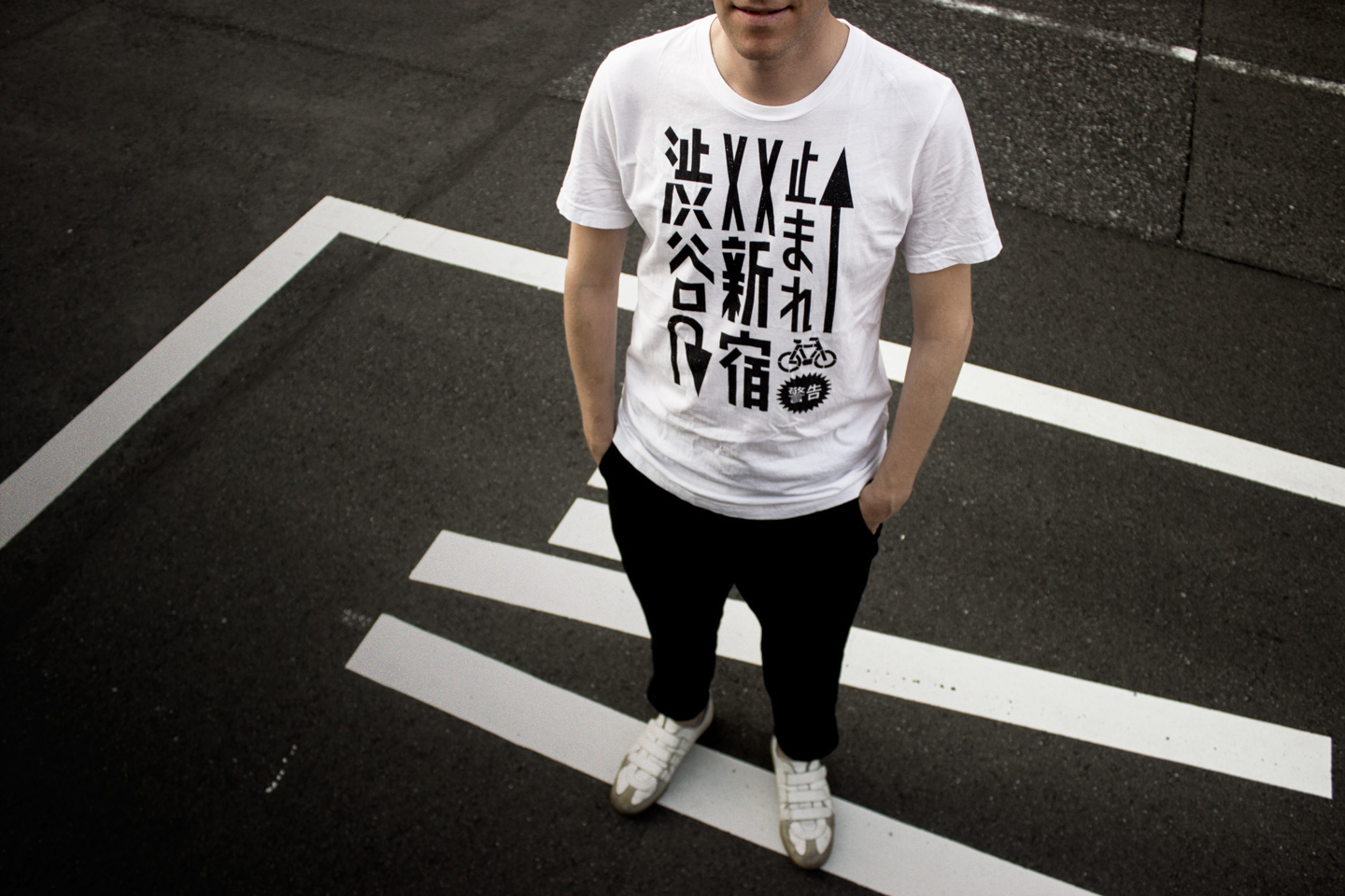 Tokyo Signs™ - Products inspired by the streets of Tokyo - Tokyo Roadmarks T-shirt