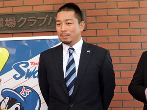 Tateyama at his press conference announcing his decision to undergo surgery.