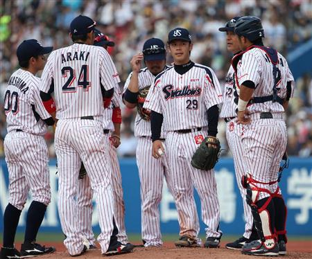 Ogawa doesn't have a good day at the mound.