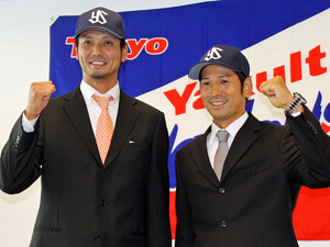 Say hello to the newest Swallows, Arakaki (L) and Yamanaka (R).