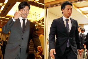 The newest Swallows. Yoshihisa Naruse (L) and Keiji Obiki (R)
