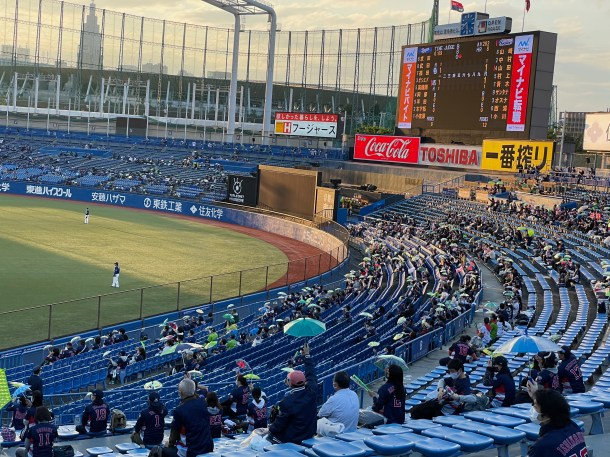 A picture of a sparse Jingu outfield