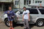 Our couchsurfer hosts in Khabarovsk