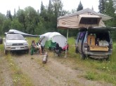 We were lucky enough to meet fellow travelers, Fabio and Synthia and shared with quiet wooded campsite with them.