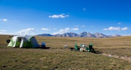 Camping in the summer pastures