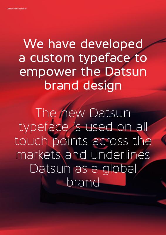 Bo Linnemann, Kontrapunkt|「Datsun Brand Typeface」「Infiniti Brand Typeface」「Nissan Brand Typeface」