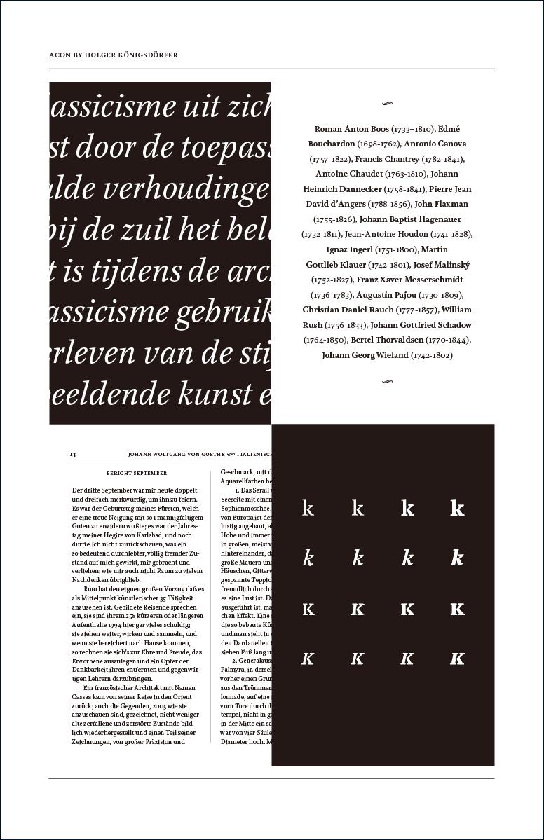 ホルガー・ケーニヒスドルファー|Acon, a typeface for booktypography