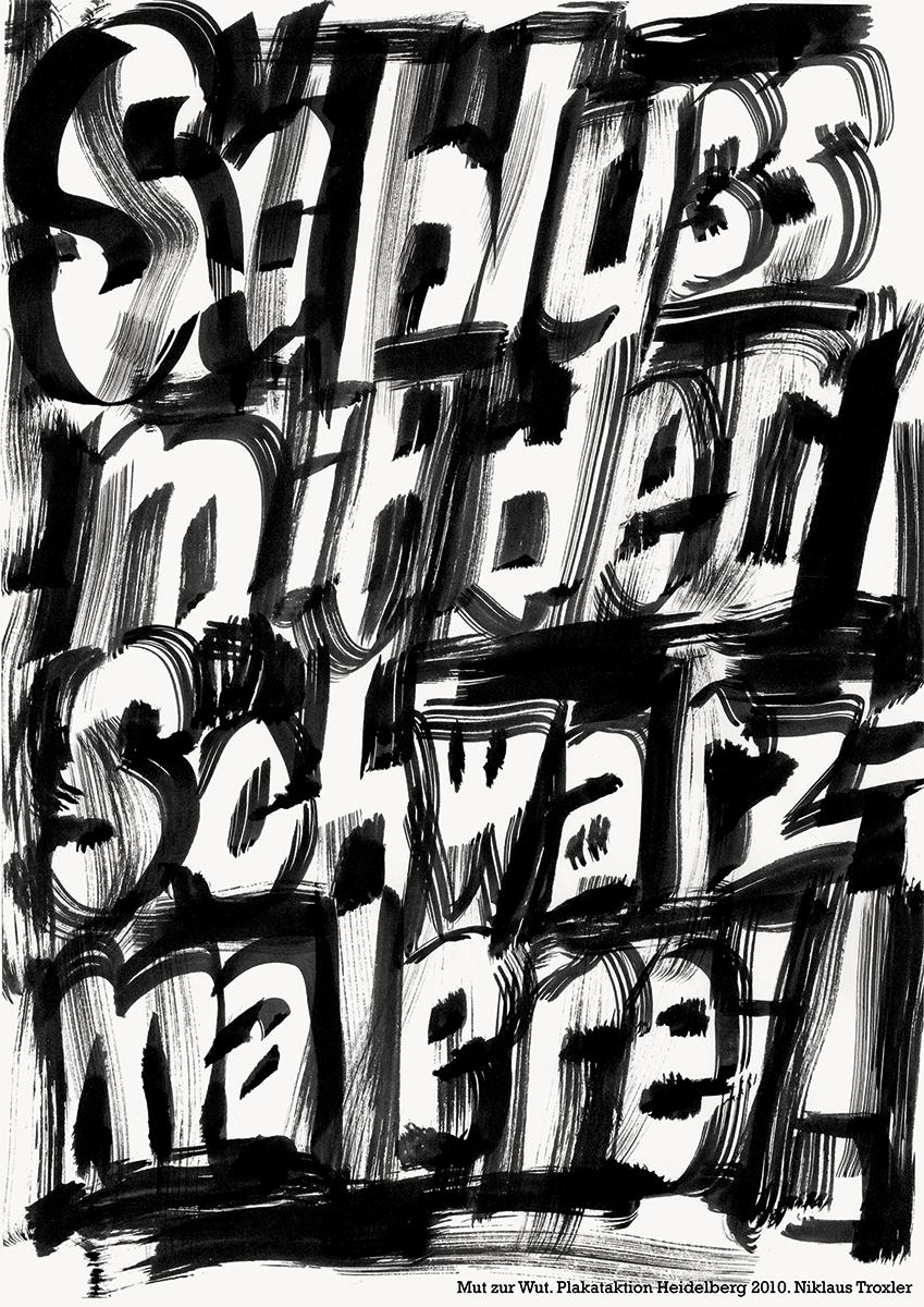 Niklaus Troxler|Schluss mit der Schwarzmalerei!