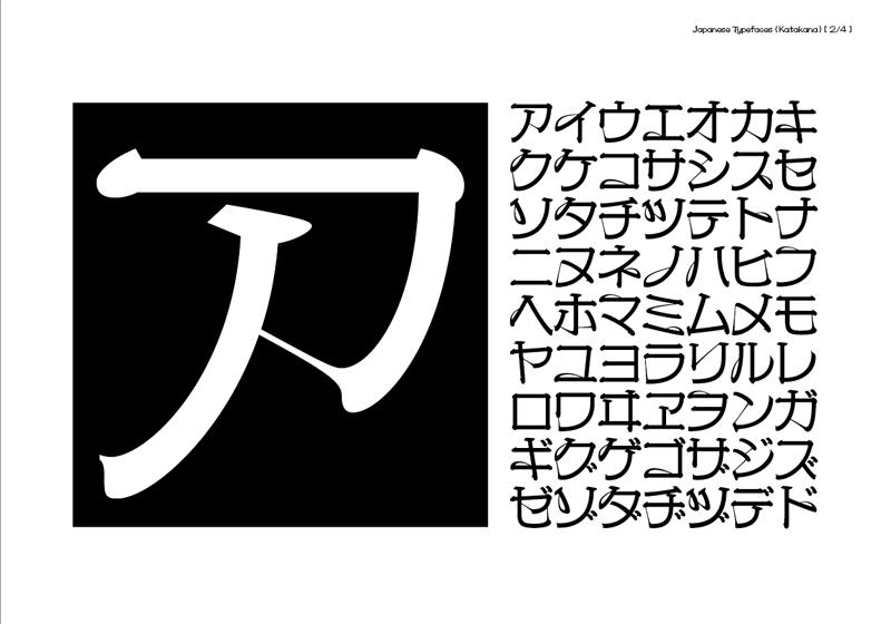 京千社 / 2010 | タイプデザイン_カタカナ