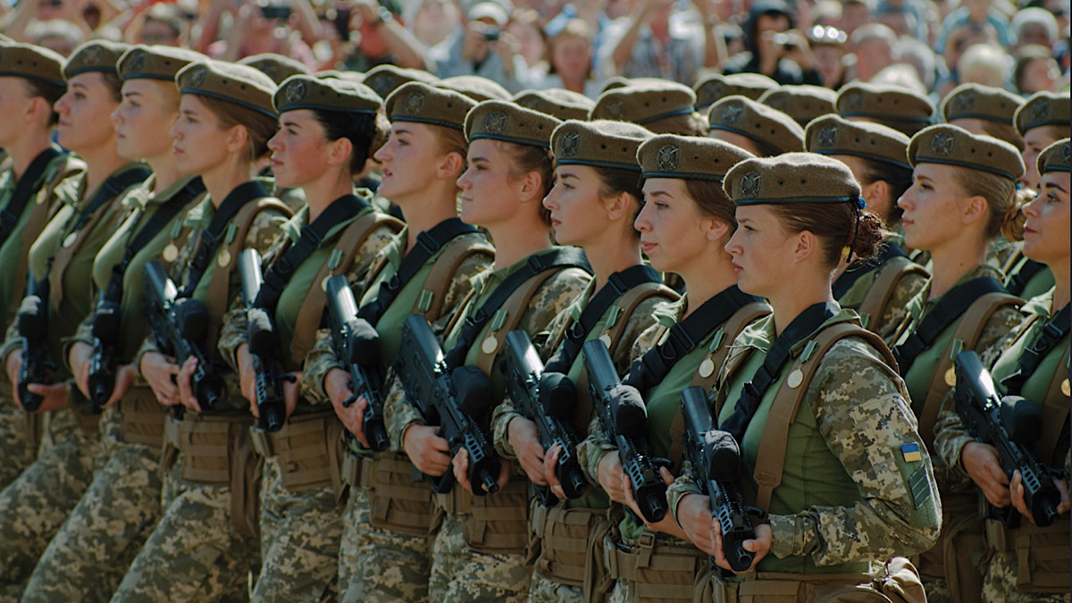 Women Ukrainian armed forces