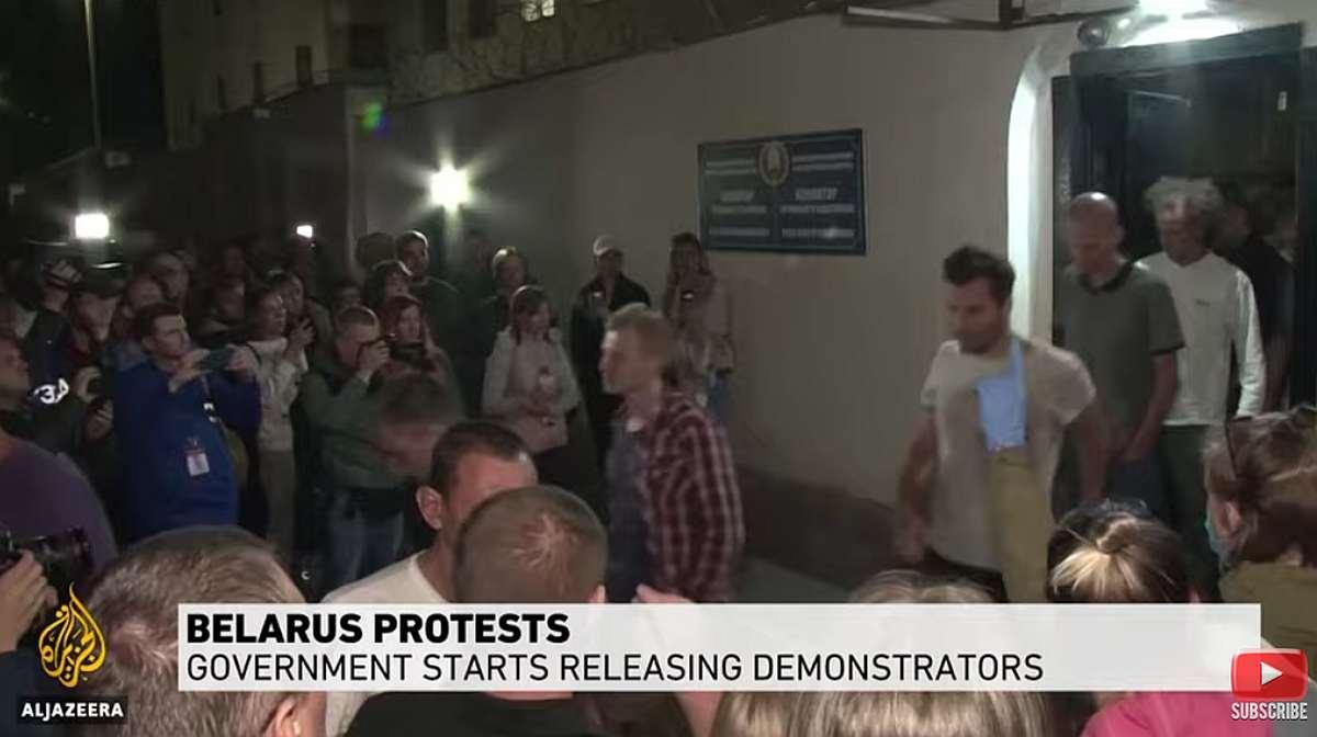 Belarus protesters released