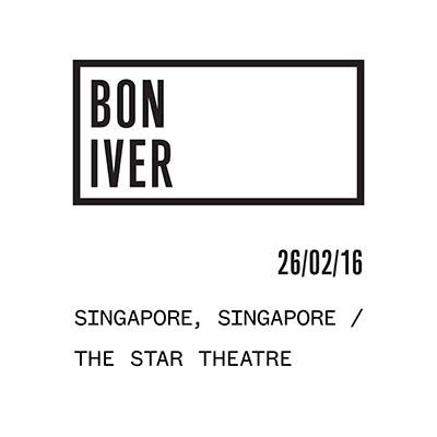 Bon Iver-flyer