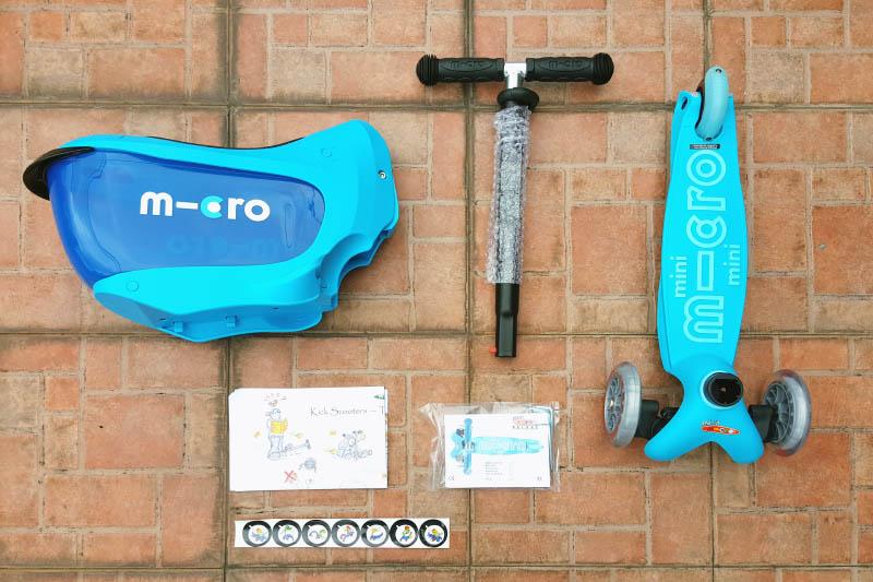 komponen Micro Scooter dalam box