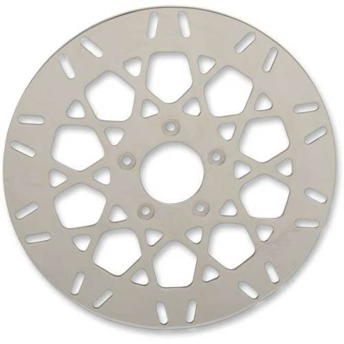 CUSTOM POLISHED SS BRAKE ROTOR HARLEY SOFTAIL SPORTSTER TOURING FRONT 11 1//2 NEW
