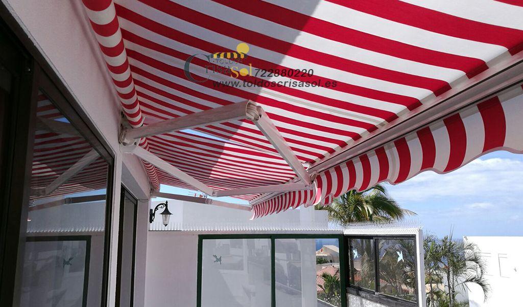 Toldo brazo articulado - Ideal para terrazas y ventanas