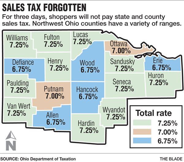 7 25 Sales Tax Chart Ohio