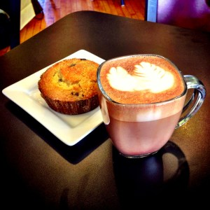 Mocha and a muffin