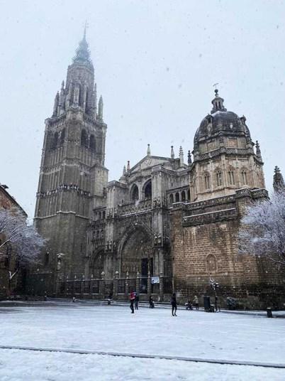 Catedral de Toledo nevado