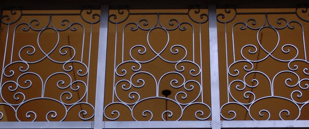 medium resolution of cropped photo of an iron fence
