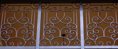 small resolution of cropped photo of an iron fence