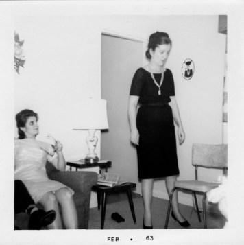 Katie and Betty Jane Feb 1963