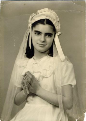Aunt Gloria first communion