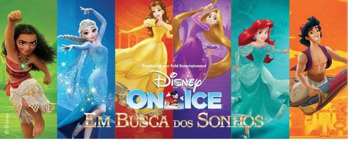 """Espetáculo """"Disney On Ice em Busca de Sonhos"""" estará no Brasil nos meses de maio e junho/2019."""