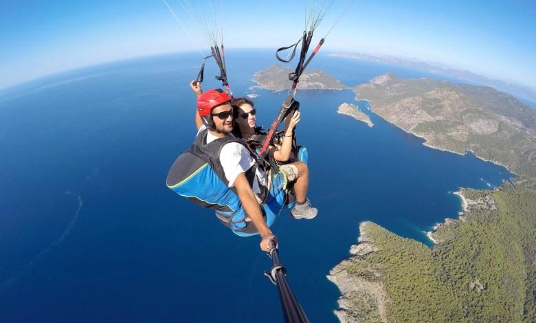 yamaç paraşütü uçuşu