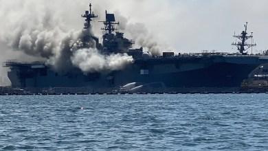 Photo of ABD Havuzlu Çıkarma Gemisi'nde yangın