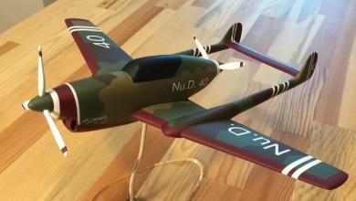 Photo of Nu.D.40 uçağının maketi