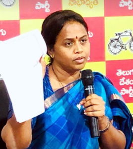 tdp spokes person anuradha fires on ap cm ys jagan over selling govt properties