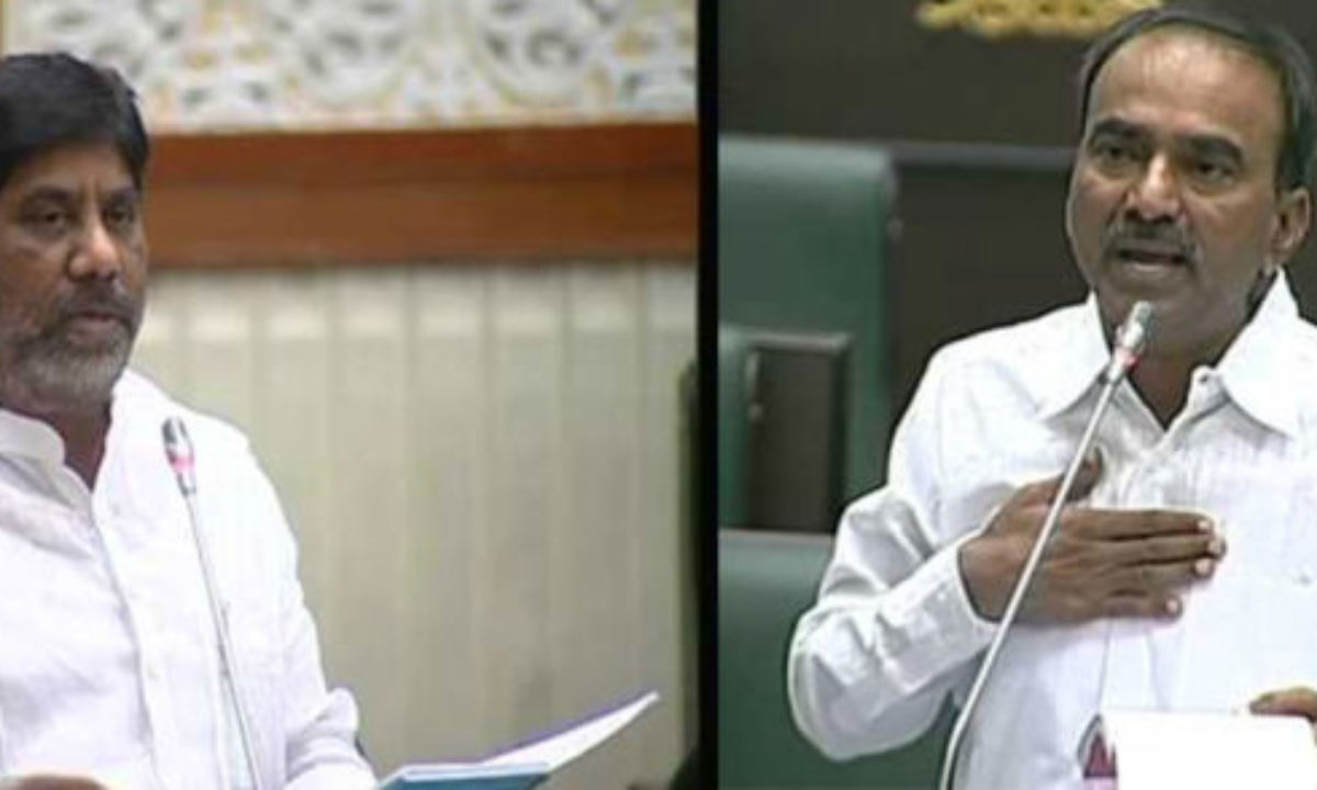 What was the fight between Etela and Batti Vikramarka in Assembly?! | TeluguBulletin.com