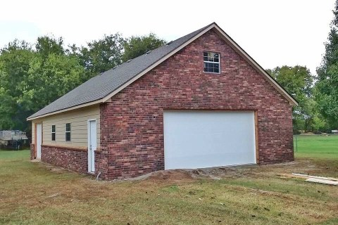 Garage we Built for a Customer in Broken Arrow