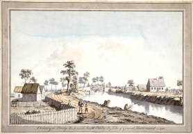 Vue sur le pont de la rivière Berthier, 1785