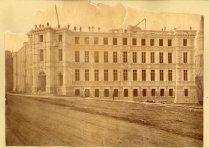 Palais de justice de Québec en construction - Vers 1900. BANQ