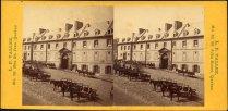 Quartier Vieux-Québec - Rue des Jardins - Collège des Jésuites juillet 1872. BANQ