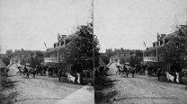 Hotel et pont aux Chutes Montmorency, vers 1870. Bibliothèque et Archives Canada.