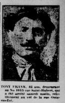 Tony Frank. La patrie, 28 avril 1924