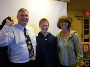 Astronomer Kevin Manning with TPLF President Linda Byam and her son, Matt