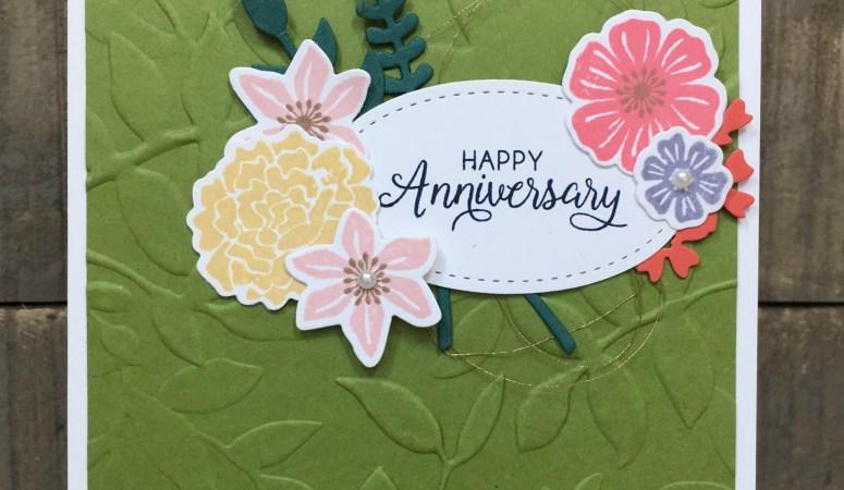 Beautiful Bouquet Anniversary Card
