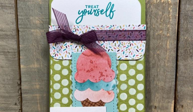 Sweet Ice Cream Gift Card Holder