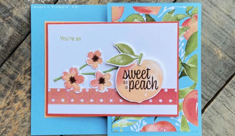Sweet As A Peach Fun Fold Card