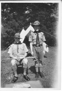 One of Tollerton scouts in camp