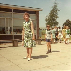 Mrs Gretton on the day of her last Leavers service, 22nd July 1976, a very emotional day for us all.