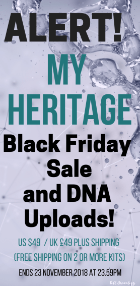 My Heritage Black Friday sales and DNA uploads