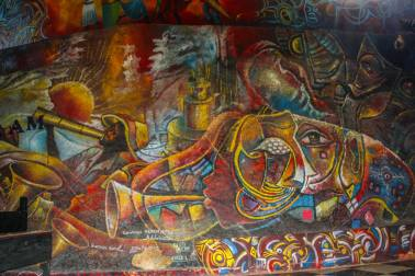 While visiting the Hotel Oloffson in the capital, I couldn't help but stumble upon this beautiful mural. Haiti is already beautiful on its own, but the abundance of artwork and artists only enhances the natural beauty. If you ever get the change to visit Haiti, make friends with some of the local artists and make sure to bring home some art to decorate your walls!